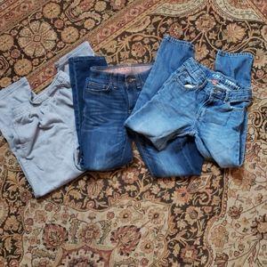 Bundle of boy size 8 pants